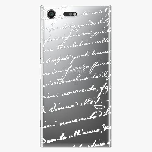 Plastový kryt iSaprio - Handwriting 01 - white - Sony Xperia XZ Premium