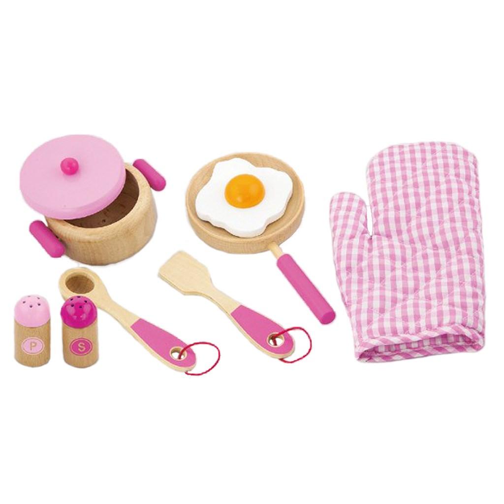 Dětské dřevěné nádobí Viga-snídaně