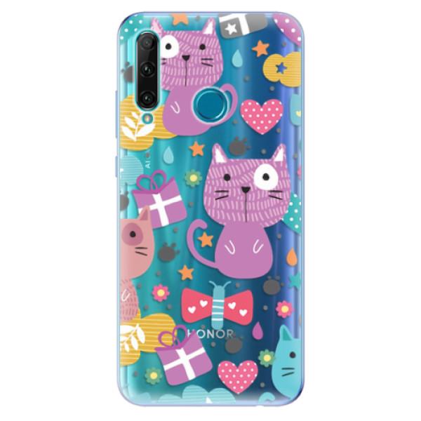 Odolné silikonové pouzdro iSaprio - Cat pattern 01 - Honor 20e