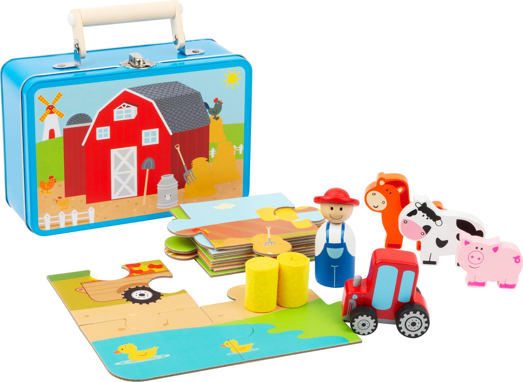 Small Foot Dřevěné puzzle s postavičkami Farma