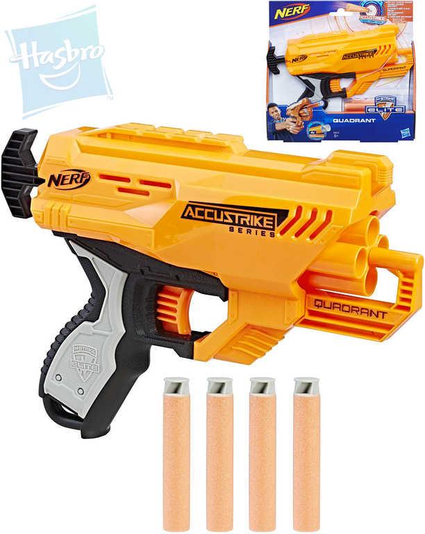 HASBRO NERF N-Strike Elite Accustrike Quadrant set pistole blaster + 4 šipky