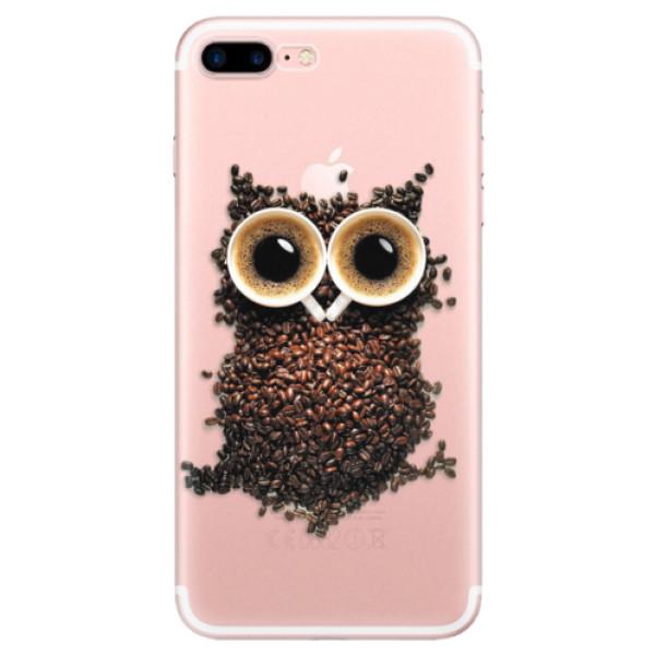 Odolné silikonové pouzdro iSaprio - Owl And Coffee - iPhone 7 Plus