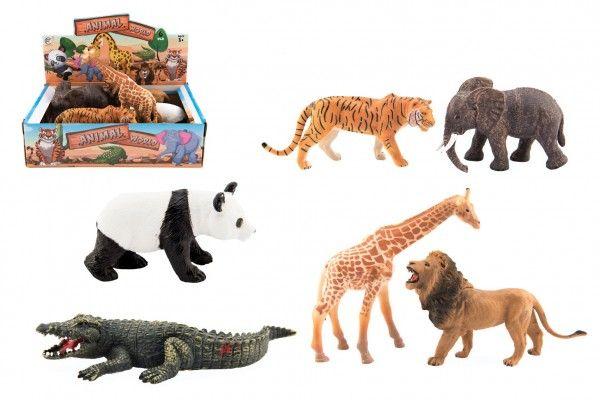 Zvířátko safari ZOO plast 11-17cm - 6ks v boxu