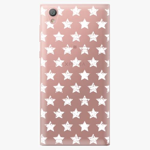 Plastový kryt iSaprio - Stars Pattern - white - Sony Xperia L1