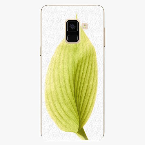 Plastový kryt iSaprio - Green Leaf - Samsung Galaxy A8 2018
