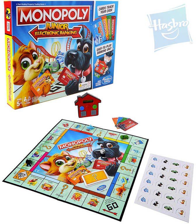 HASBRO HRA Monopoly Junior Electronic Banking *SPOLEČENSKÉ HRY*