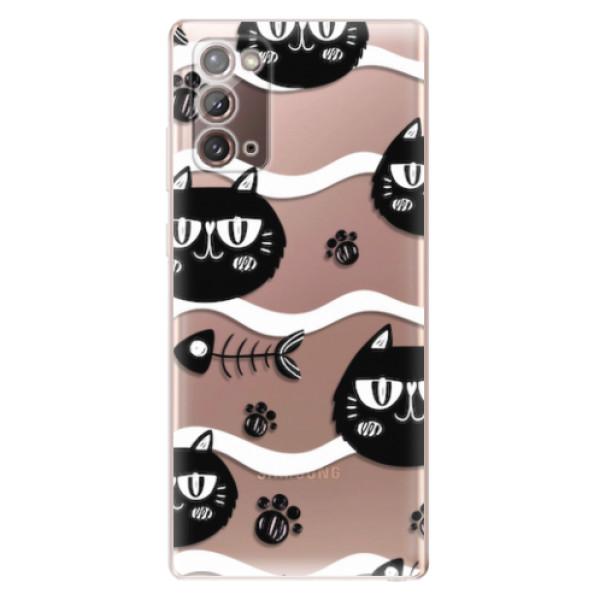 Odolné silikonové pouzdro iSaprio - Cat pattern 04 - Samsung Galaxy Note 20