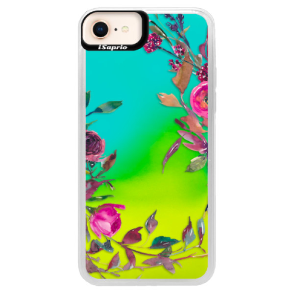 Neonové pouzdro Blue iSaprio - Herbs 01 - iPhone 8