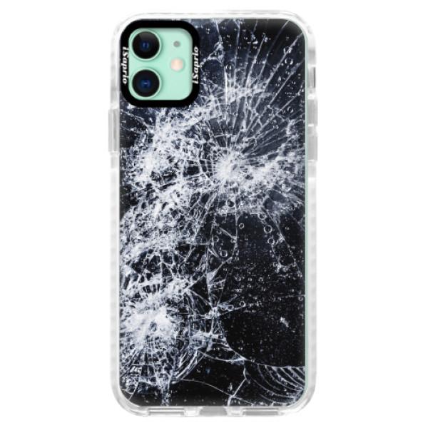 Silikonové pouzdro Bumper iSaprio - Cracked - iPhone 11