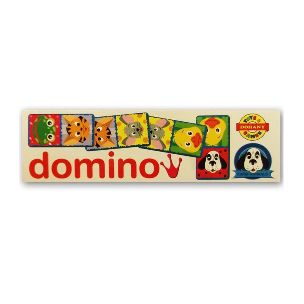Dětské domino Domácí zvířátka - bílá