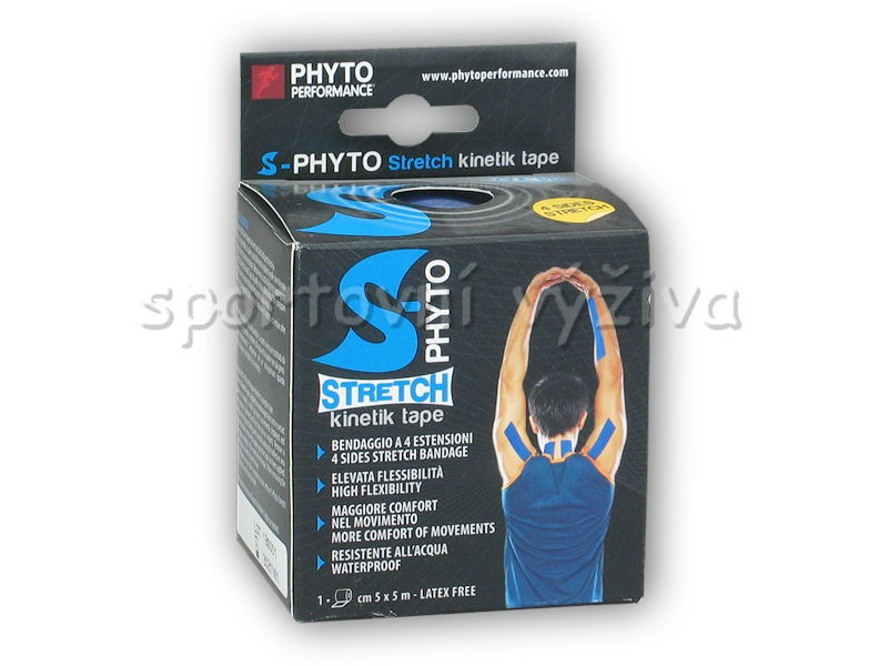 S-biokinetik stretch tape 5cm x 5m-tmave-modra