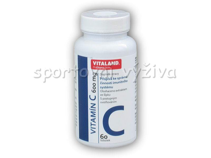 Vitaland Vitamin C 600mg 60 kapslí