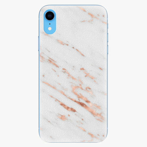 Silikonové pouzdro iSaprio - Rose Gold Marble - iPhone XR