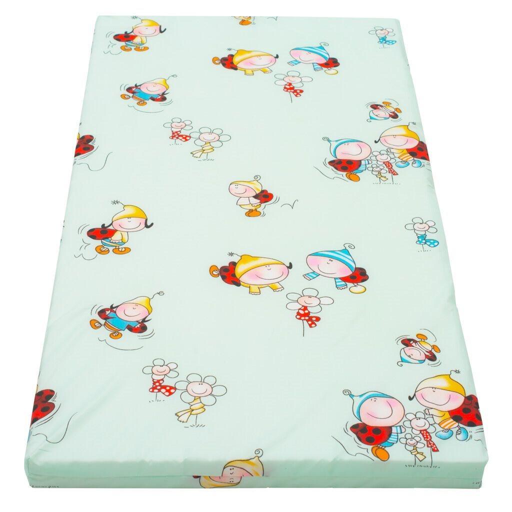 Dětská pěnová matrace New Baby 120x60 - různé obrázky - zelená