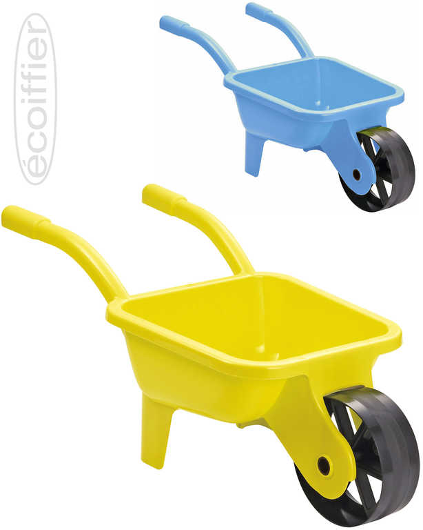 ECOIFFIER Baby kolečko (kolečka) zahradní 66x28x28cm modré / žluté pro miminko