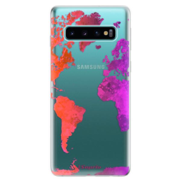 Odolné silikonové pouzdro iSaprio - Warm Map - Samsung Galaxy S10