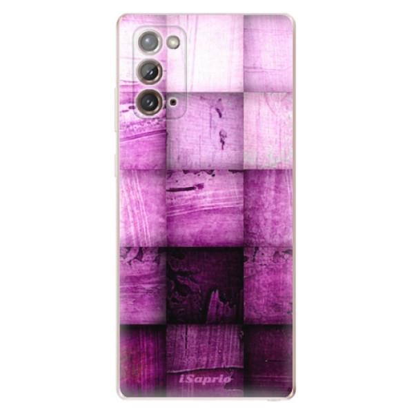 Odolné silikonové pouzdro iSaprio - Purple Squares - Samsung Galaxy Note 20