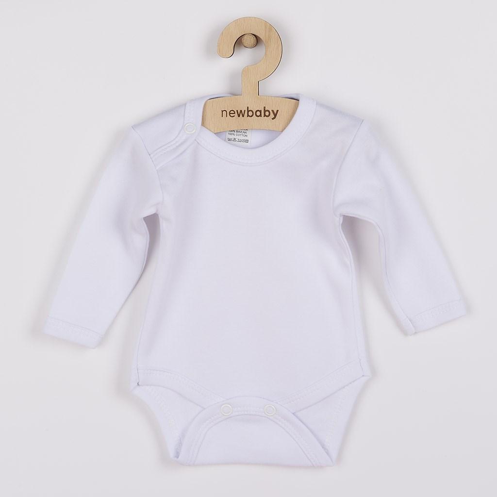 Body dlouhý rukáv New Baby - bílá/80 (9-12m)