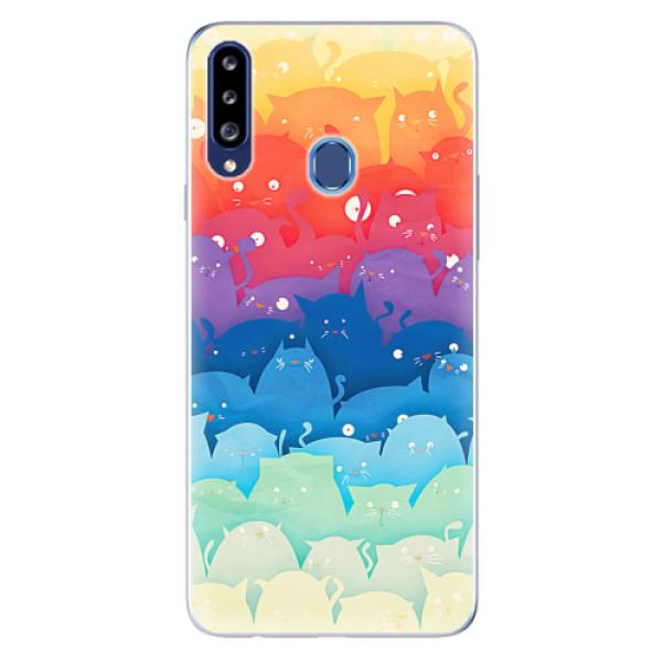 Odolné silikonové pouzdro iSaprio - Cats World - Samsung Galaxy A20s