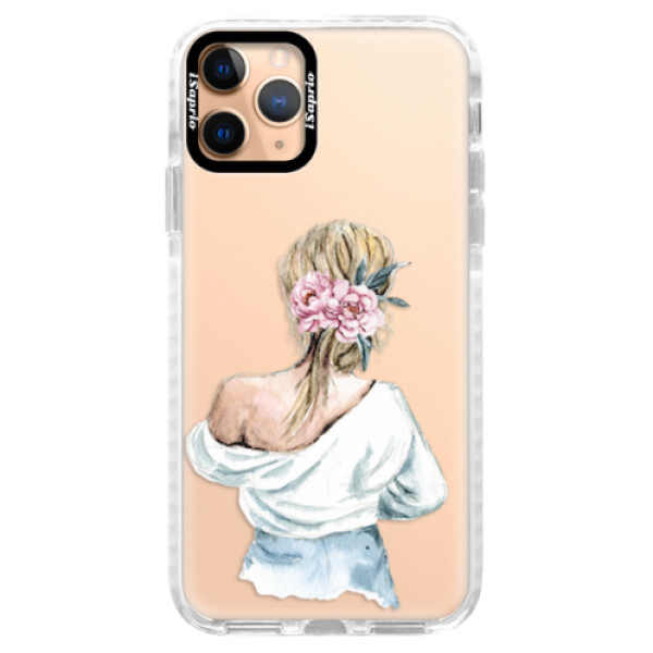 Silikonové pouzdro Bumper iSaprio - Girl with flowers - iPhone 11 Pro