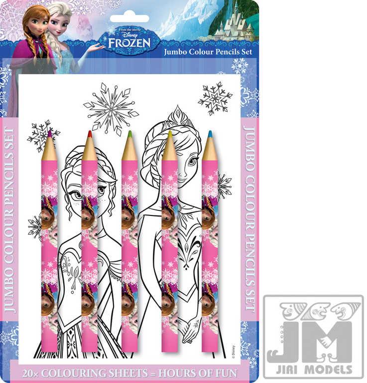 JIRI MODELS Omalovánky + velké pastelky sada Ledové Království (Frozen)