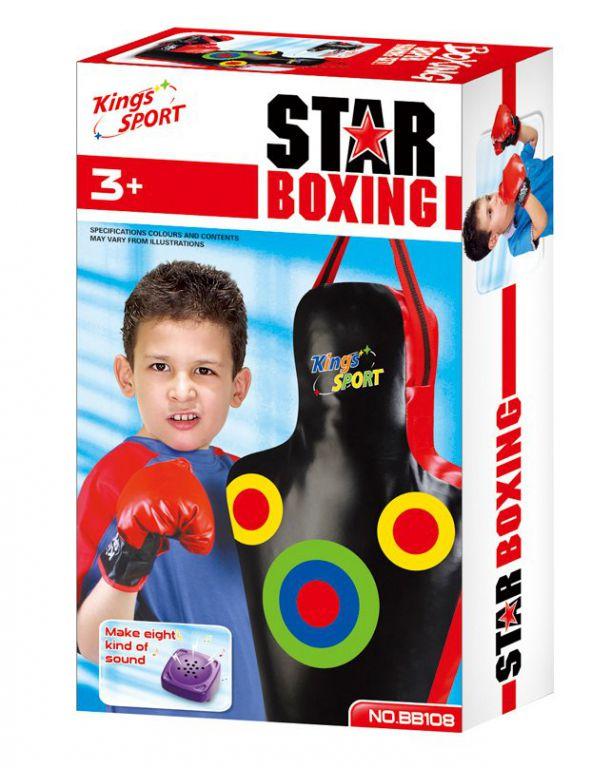 Boxovací pytel G21 Star obrys těla se zvukem