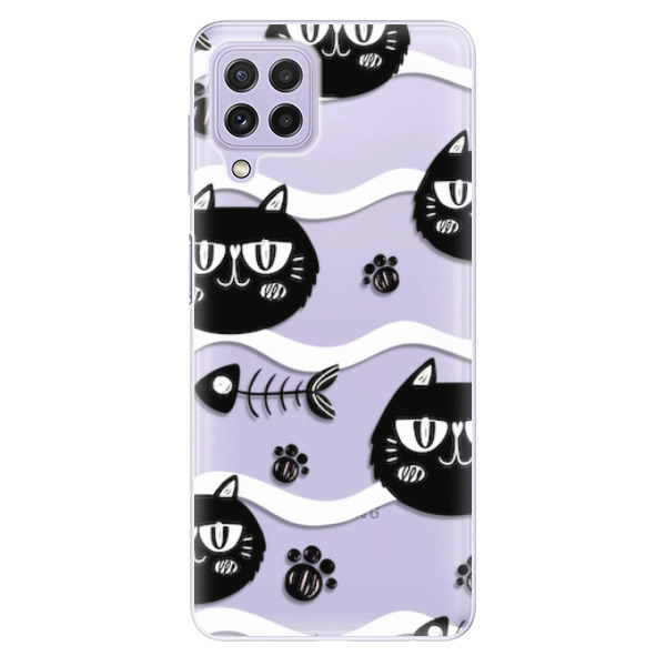 Odolné silikonové pouzdro iSaprio - Cat pattern 04 - Samsung Galaxy A22