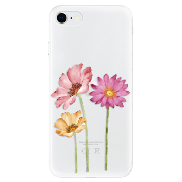 Odolné silikonové pouzdro iSaprio - Three Flowers - iPhone SE 2020