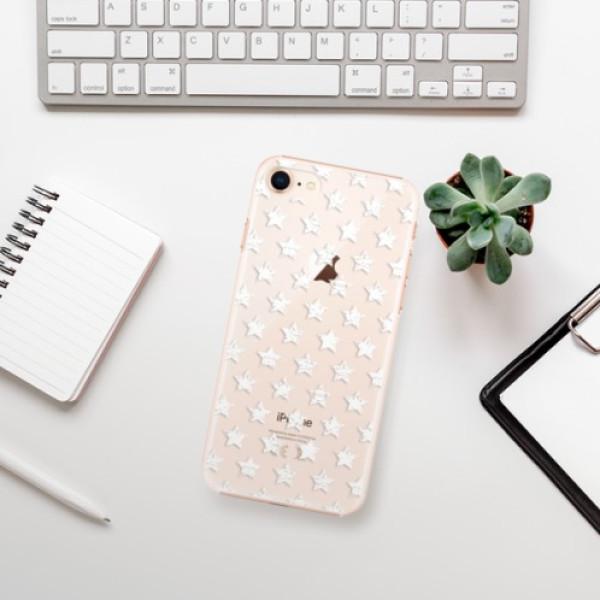 Plastové pouzdro iSaprio - Stars Pattern - white - iPhone 8