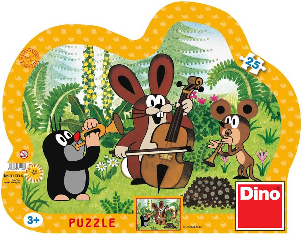 DINO Hra Puzzle Krtek muzikant (Krteček) 25 dílků v krabici