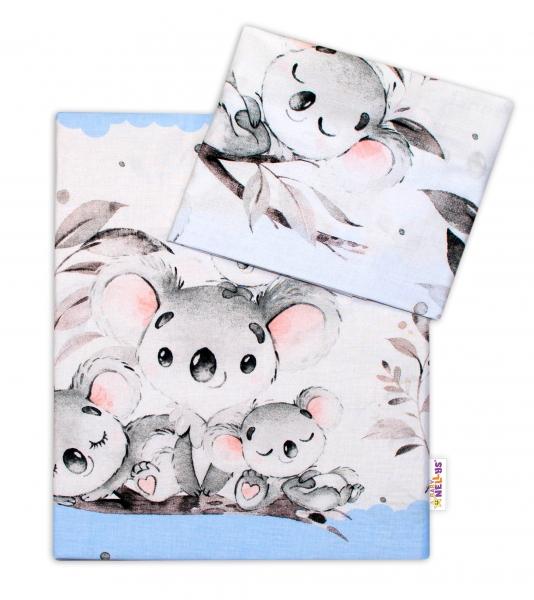 2-dílné bavlněné povlečení Baby Nellys - Medvídek Koala - modrý - 120x90
