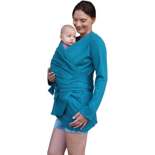 jozanek-zavinovaci-kabatek-pro-nosici-tehotne-biobavlneny-petrolejovy-vel-l-xl-l-xl