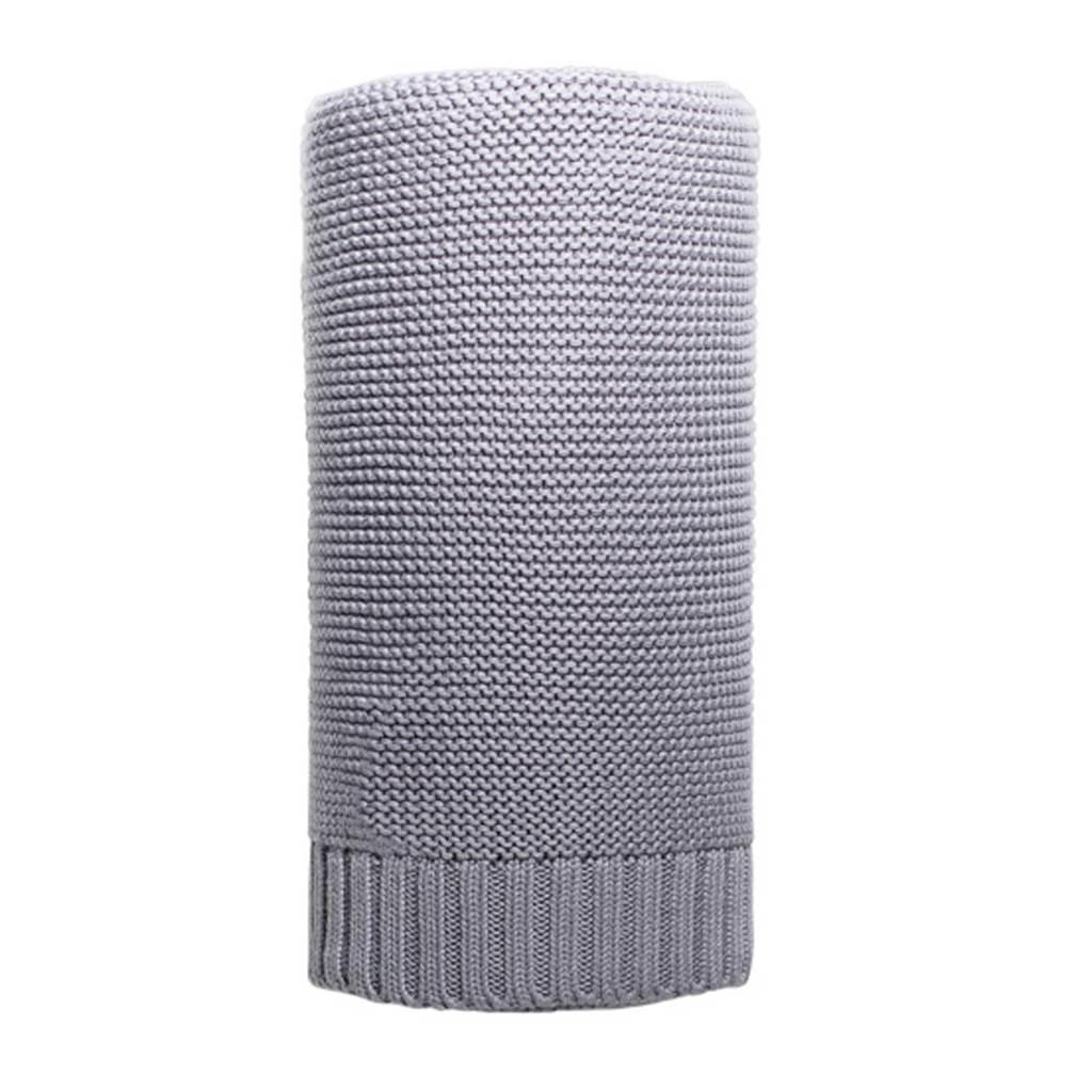 Bambusová pletená deka NEW BABY 100x80 cm - šedá