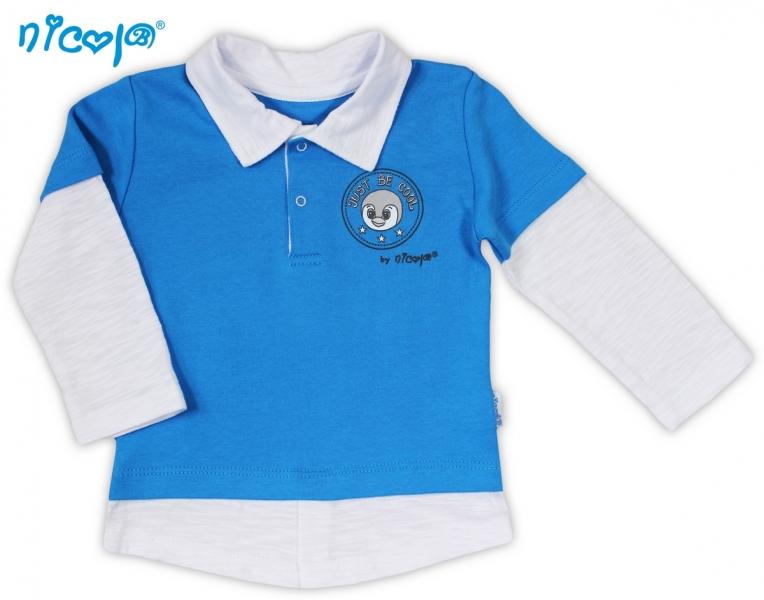 Bavlněné tričko/polo NICOL TUČŇÁK - dlouhý rukáv - 56 (1-2m)