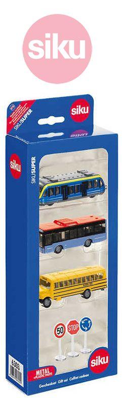 SIKU Set městská vozidla + Dopravní značky