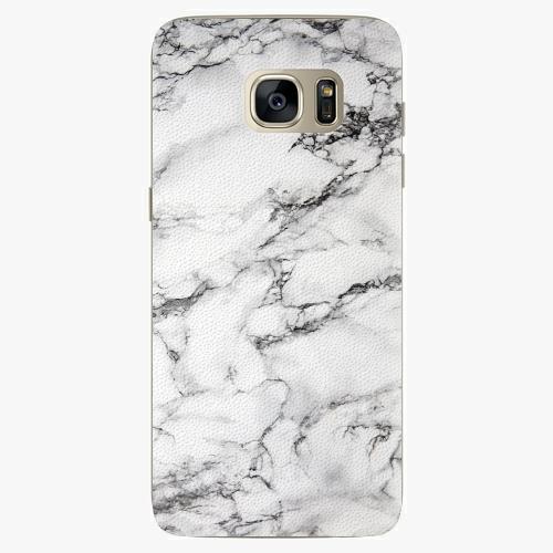 Plastový kryt iSaprio - White Marble 01 - Samsung Galaxy S7 Edge
