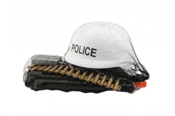 Sada Policie helma + samopal