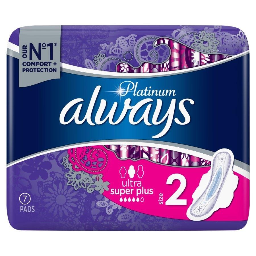 Platinum Ultra Super hygienické vložky s křidélky a jemnou vůní 7 ks/bal.