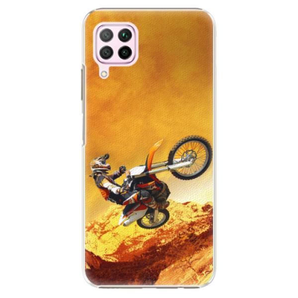 Plastové pouzdro iSaprio - Motocross - Huawei P40 Lite