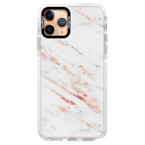 Silikonové pouzdro Bumper iSaprio - Rose Gold Marble - iPhone 11 Pro