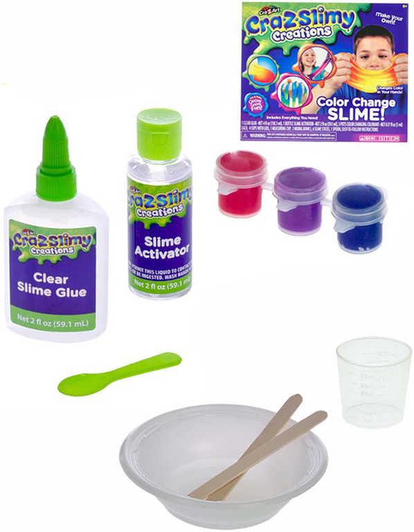Kreativní set výroba slizu mění barvu Cra-z-slimy s doplňky v krabičce