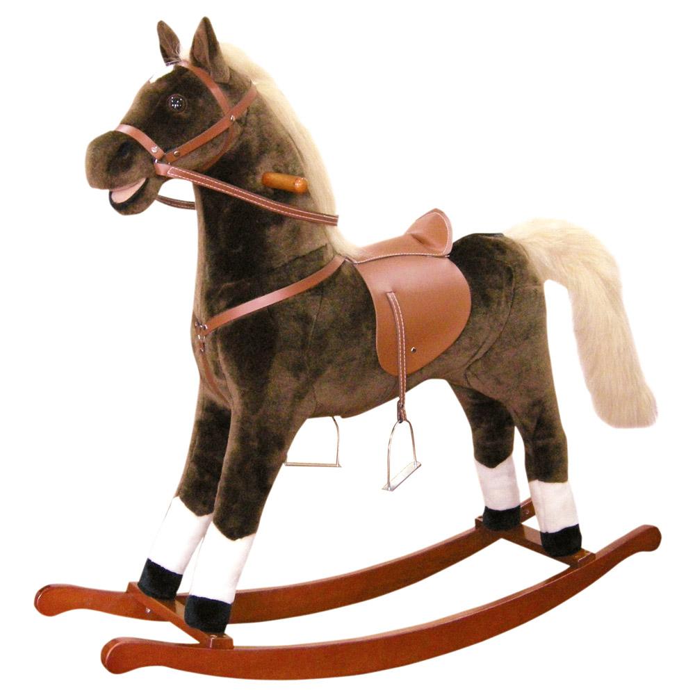 Bino Houpací kůň plyšový hnědý