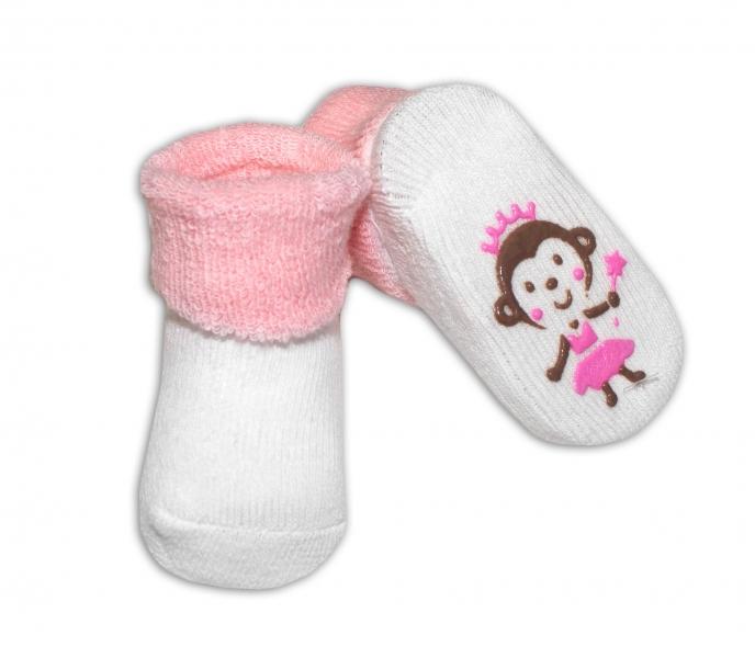 Kojenecké ponožky Risocks různé motivy - sv. růžová - 0/6 měsíců