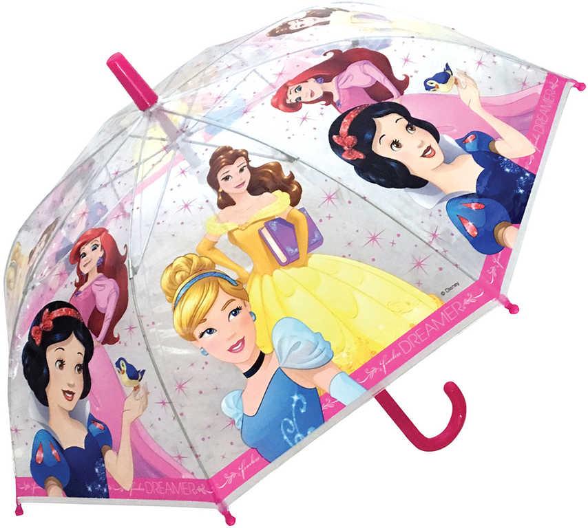 Deštník dětský holčičí Disney Princezny průhledný manuální otevírání