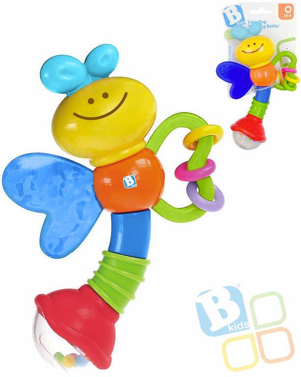 B-KIDS Baby chrastítko beruška kousátko pro miminko