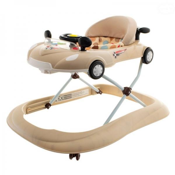 Euro Baby Multifunkční chodítko s volantem - béžové, Ce19