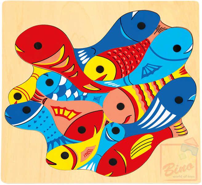 BINO DŘEVO Rybičky s udičkou magnetické * DŘEVĚNÉ HRAČKY *