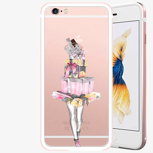 Plastový kryt iSaprio - Queen of Shopping - iPhone 6 Plus/6S Plus - Rose Gold