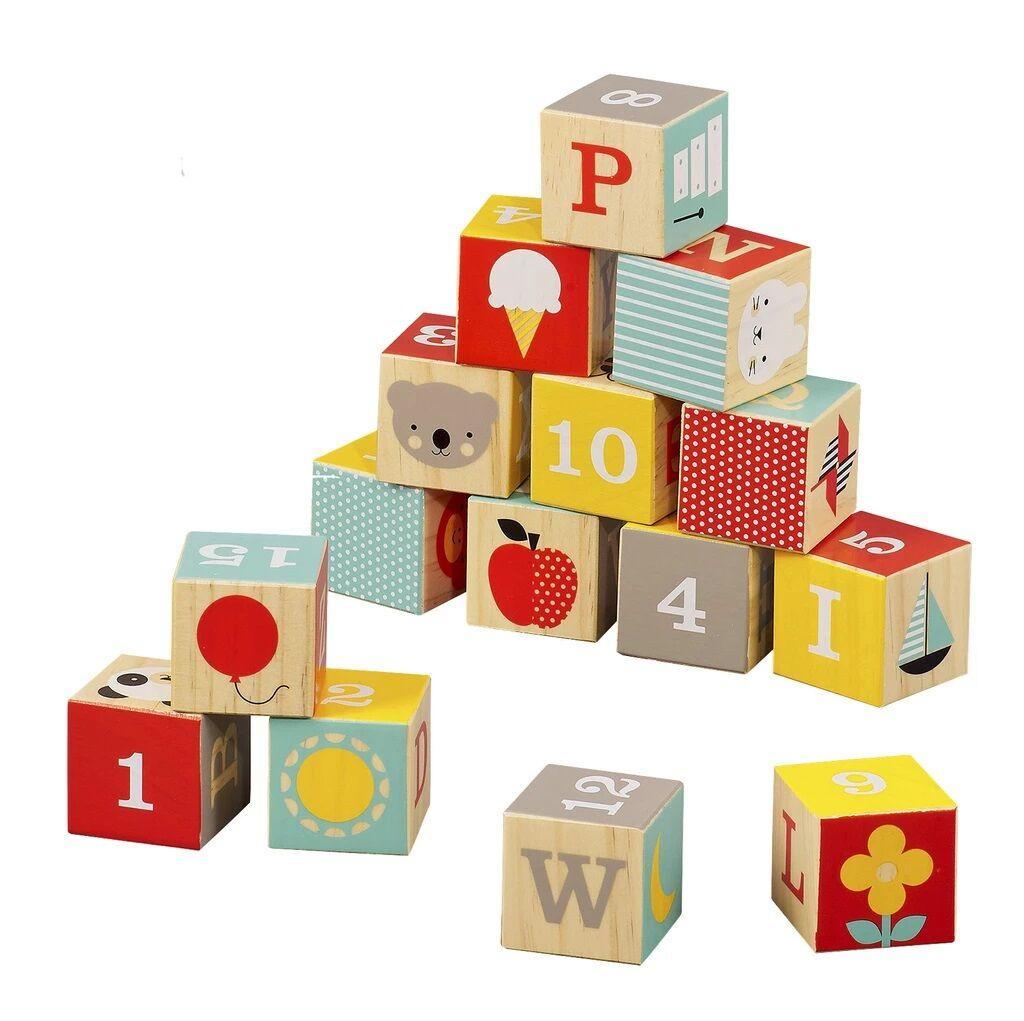 Petitcollage Dřevěné kostky ABC - poškozený obal