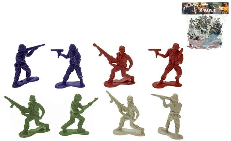 Vojáci 4,5 cm v sáčku 4 ARMÁDY